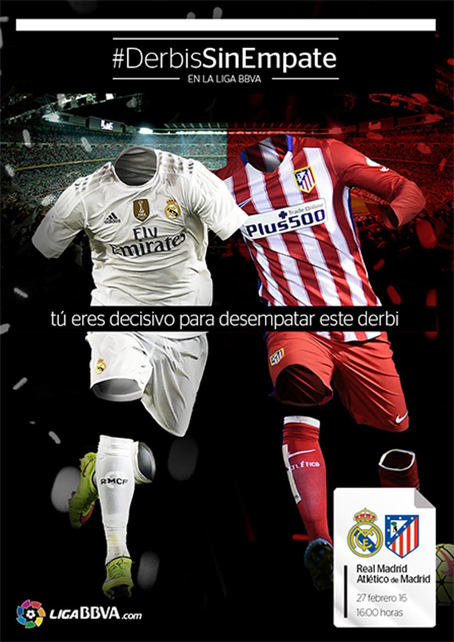 #DerbisSinEmpate LigaBBVA Poster Real Madrid Atletico de Madrid
