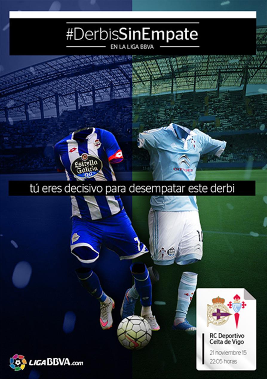 #DerbisSinEmpate LigaBBVA Poster Real Sociedad Vs Celta