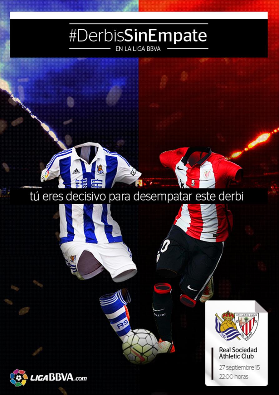 #DerbisSinEmpate LigaBBVA Poster Real Sociedad Vs Athletic