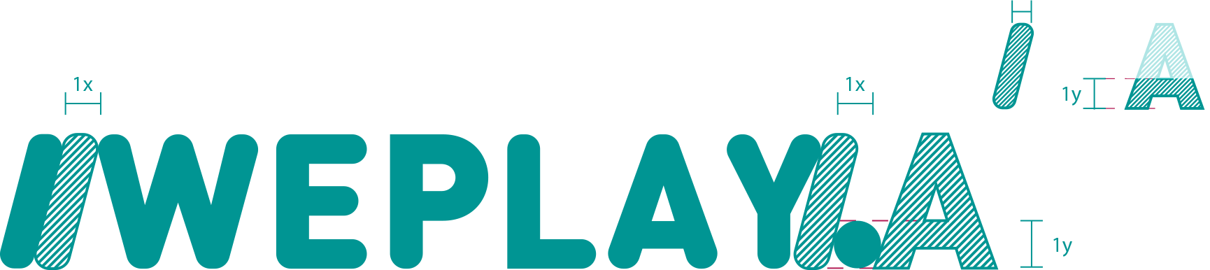 /WEPLAY. Dale play a tus redes: logo construction