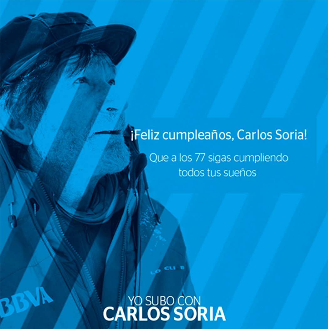 Yo Subo con Carlos Soria: Facebook and twitter Promo